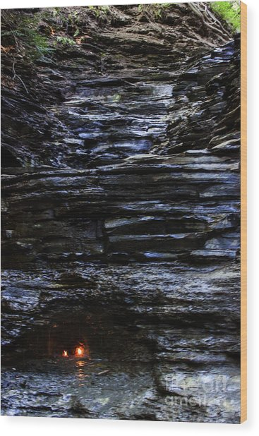 Eternal Flame Falls Wood Print