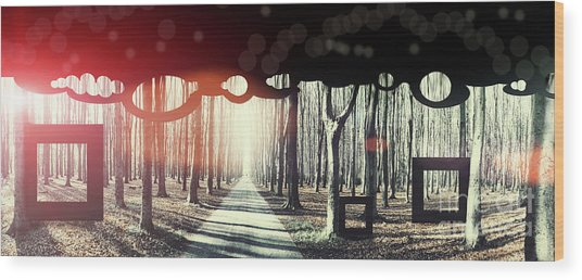 Eternity, Conceptual Background Wood Print