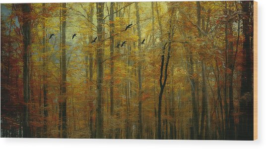 Ethereal Autumn Wood Print