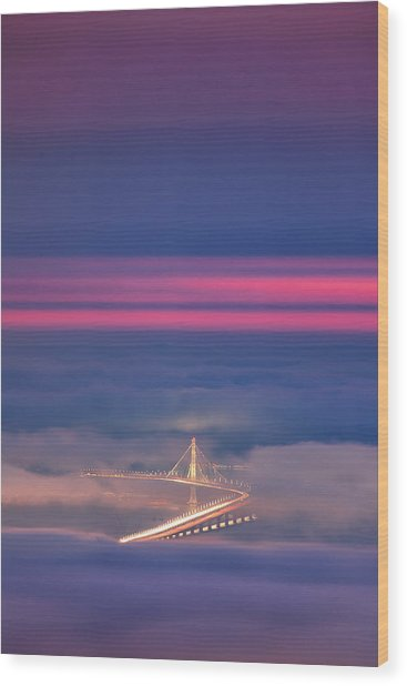 Ethereal Bridge, Oakland Bay Bridge Wood Print by Vincent James