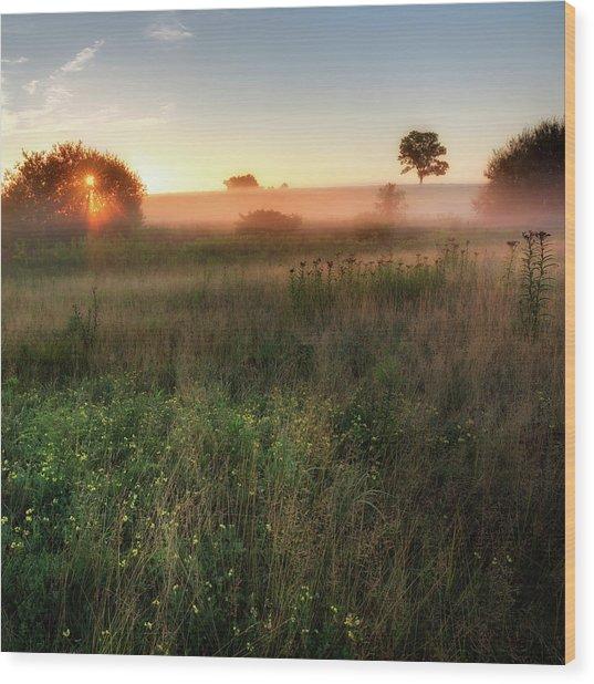 Ethereal Sunrise Square Wood Print