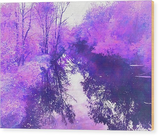Ethereal Water Color Blossom Wood Print