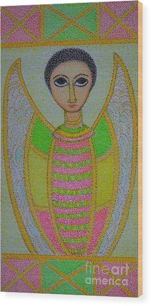 Ethiopian  Orthodox Angel Wood Print