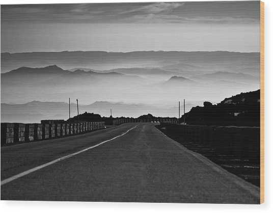 Etna Road Wood Print