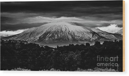 Etna, The West Side Wood Print