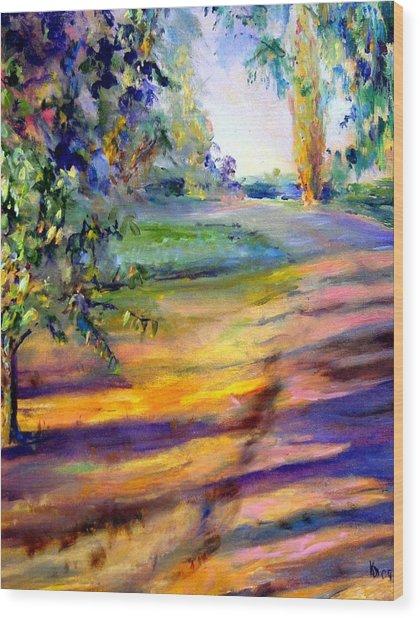 Eucalyptus At Sunset Wood Print by Kathy Dueker