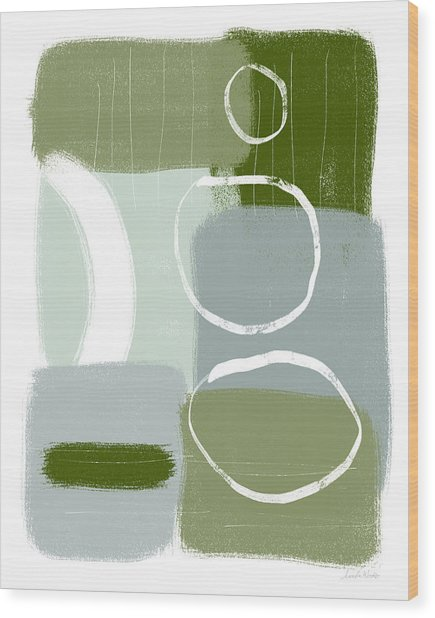 Eucalyptus Breeze  2- Art By Linda Woods Wood Print