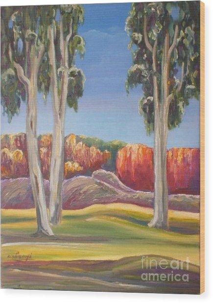 Eucalyptus Wood Print by Ushangi Kumelashvili