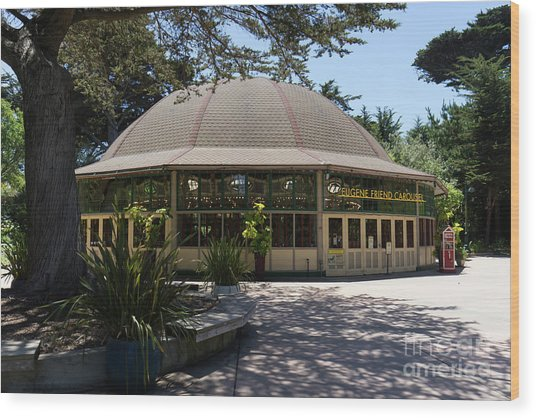 Eugene Friend Carousel At The San Francisco Zoo San Francisco California Dsc6328 Wood Print