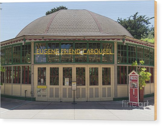 Eugene Friend Carousel At The San Francisco Zoo San Francisco California Dsc6331 Wood Print