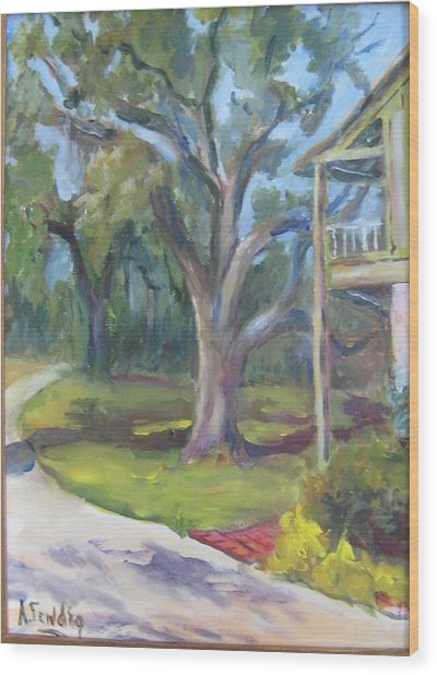 Eugenia Price's Home Wood Print by Albert Fendig
