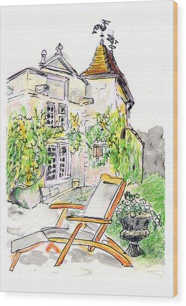 European Chateau Lounge Chair Wood Print