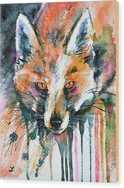 European Red Fox Wood Print