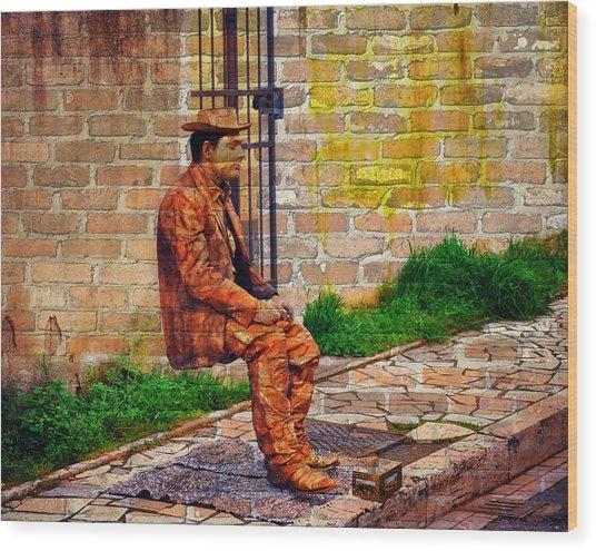 European Street Performer Wood Print