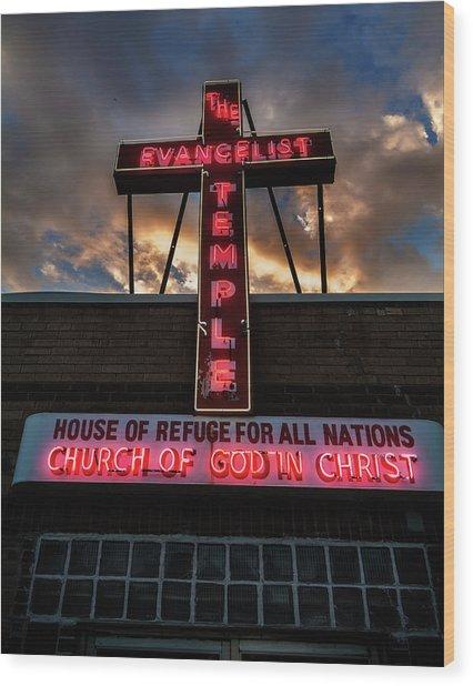 Evangelist Temple Wood Print