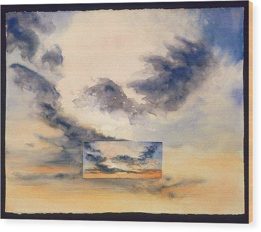 Evanston Sunset Wood Print by Nancy  Ethiel