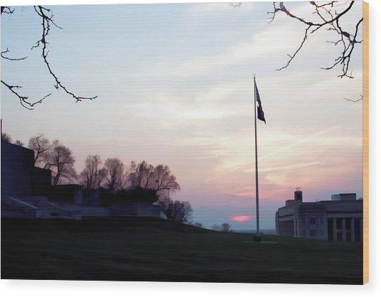 Evening At The Memorial Wood Print