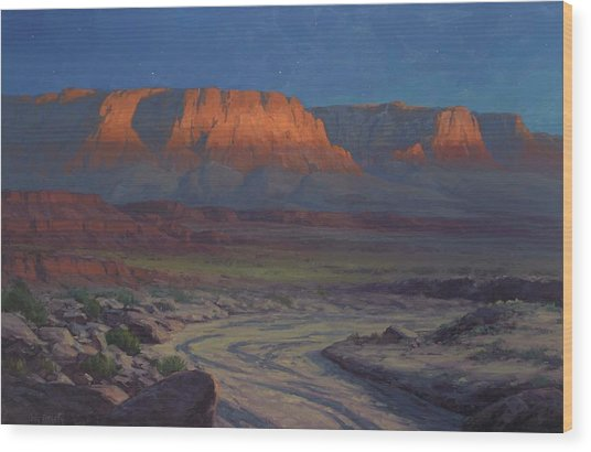 Evening Comes To Marble Canyon Wood Print