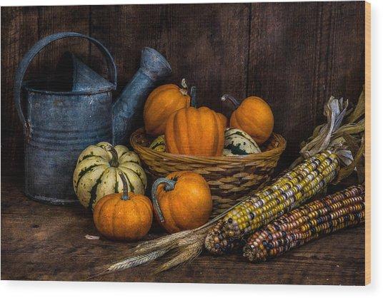 Evening Harvest Wood Print