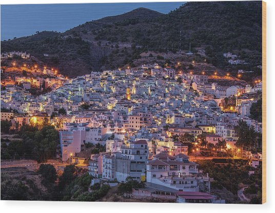 Evening In Competa Wood Print