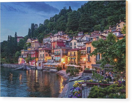 Evening In Varenna Wood Print
