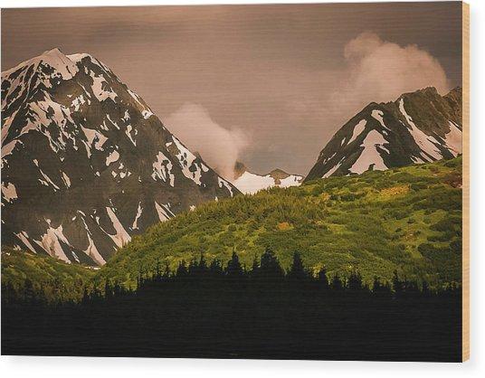 Evening Light Kenai Peninsula Wood Print