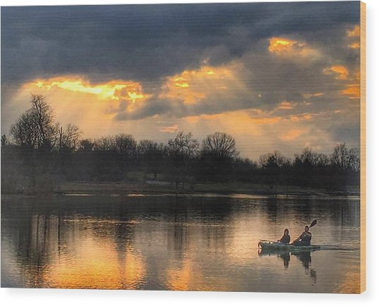 Evening Relaxation Wood Print