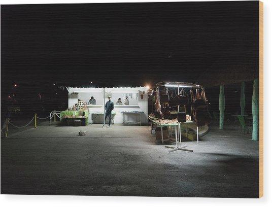 Evening Sales Wood Print