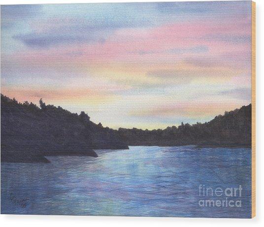 Evening Silhouette Wood Print
