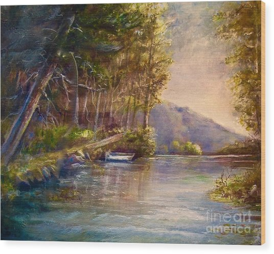 Evening's Twilight Wood Print