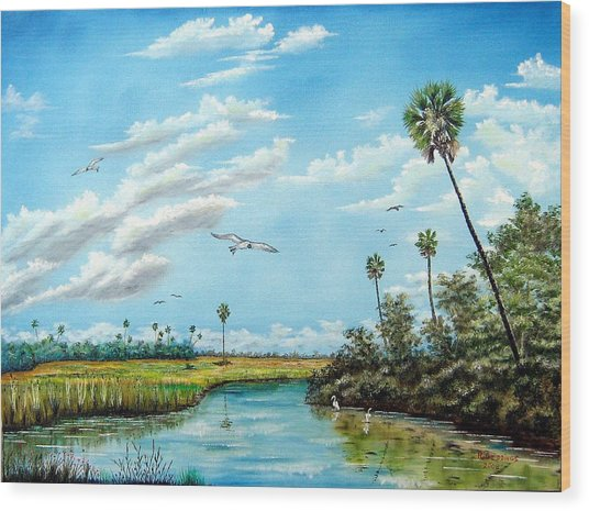 Everglades Inlet Wood Print by Riley Geddings