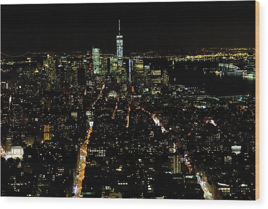 Everglow Of New York  Wood Print