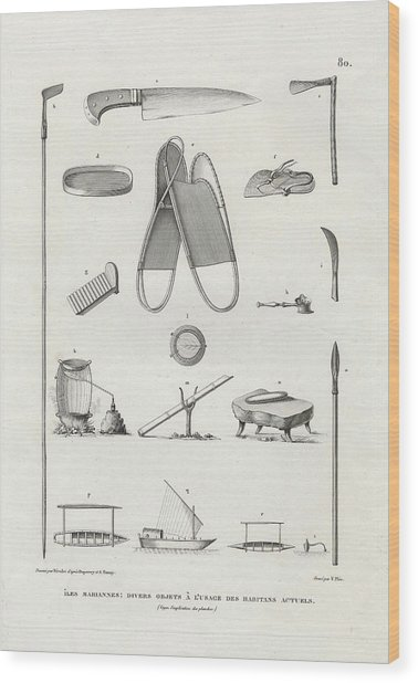 Everyday Items On Guam And Mariannas Wood Print