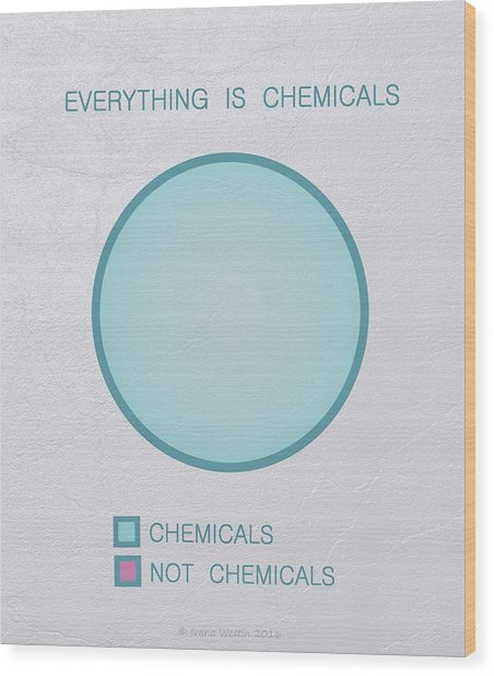 Everything Is Chemicals Wood Print