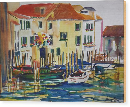 Everything Venice Wood Print by Therese Fowler-Bailey