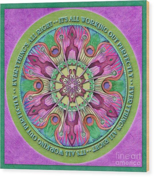 Everything's All Right Mandala Prayer Wood Print