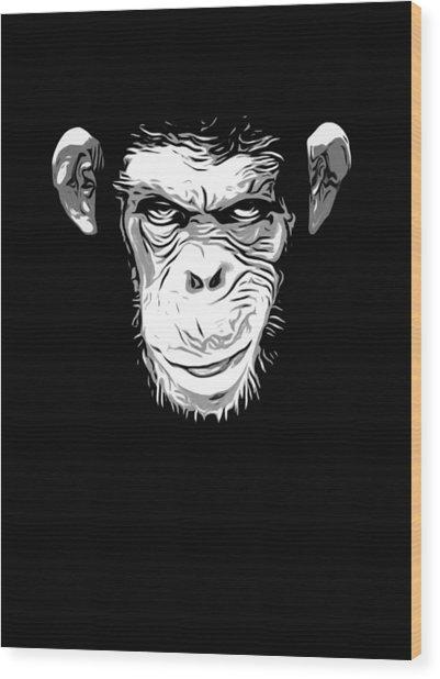 Evil Monkey Wood Print