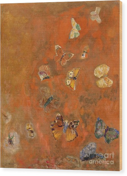 Evocation Of Butterflies Wood Print