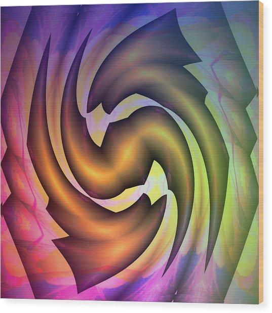 Evolution Wood Print by Visual Artist Frank Bonilla