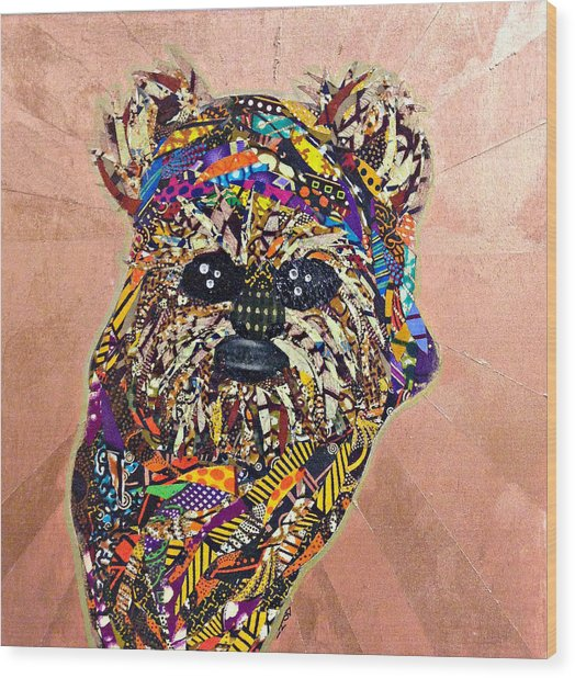 Ewok Star Wars Afrofuturist Collection Wood Print