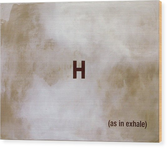 Exhale Wood Print by Andrew Crane
