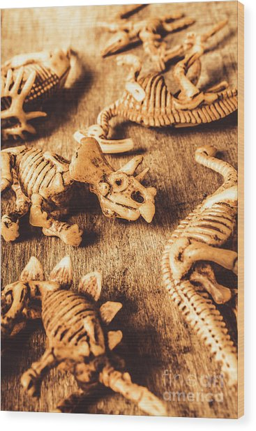 Exhibition In Prehistoric Art Wood Print