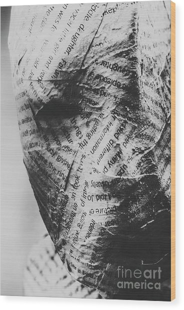 Exhumation Of Contextual Truth Wood Print