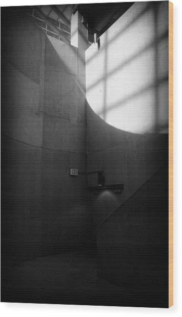Exit Wood Print