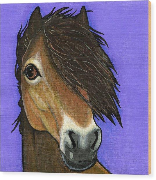 Exmoor Pony  Wood Print