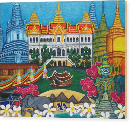 Exotic Bangkok Wood Print