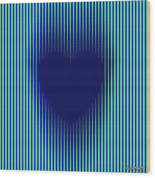 Expanding Heart 2 Wood Print
