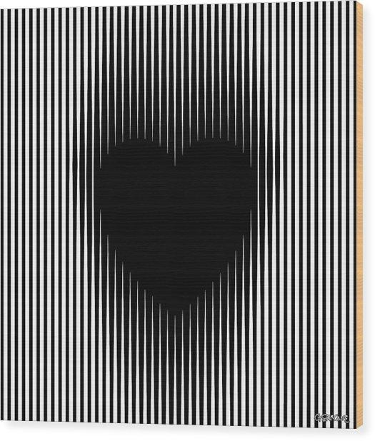 Expanding Heart Wood Print