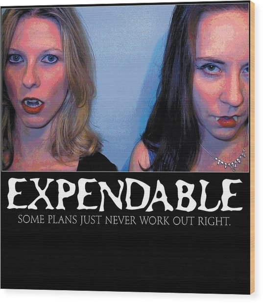 Expendable 15 Wood Print