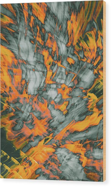 Exploded Fall Leaf Abstract Wood Print